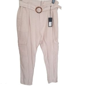 Streetwear.S  NWT Cream Trousers Pants With Belt